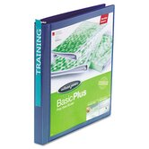 Print-Won't-Stick Flexible Poly Round Ring View Binder, 5/8&quot; Capacity, Blue