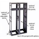"20"" D Slim 5 Series Equipment Rack Enclosure"