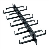 "19"" W Front & Rear D-Ring Horizontal Cable Manager"