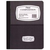 "Composition Book, Special Ruled, 100 Sheets, 9-3/4""x7-1/2"", Blue/ME"