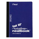 "Neatbook, College Ruled, 200 Sheets, 5-1/2""x4"", Assorted"