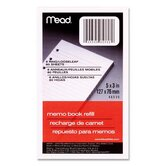 Memo Book Refill, Narrow Ruled, 6 Hole Punched, 5&quot;x3&quot;, 80 Sheets, White