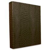 ProFormance Crocodile Embossed Ring Binder, 1&quot; Capacity, Brown