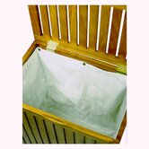 Genuine Teak Jumbo Hamper with Removable Laundry Bag