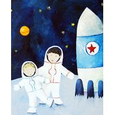 Paper Prints Brothers on the Moon
