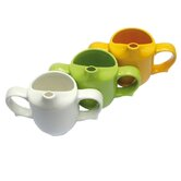 Dignity Two Handled Feeder Cup in Yellow