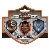 Harley Davidson™ Wings Triple Pack Eagle