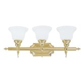 French Regency  Vanity Light in Polished Brass