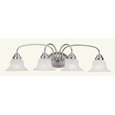 Edgemont Four Light Vanity Light in Brushed Nickel