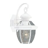 Monterey  Outdoor Wall Lantern in White
