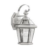 Georgetown Outdoor Wall Lantern in Brushed Nickel