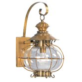 Harbor  Outdoor Wall Lantern in Flemish Brass