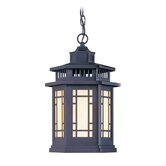 Mirror Lake  Outdoor Hanging Lantern in Bronze