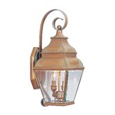 Exeter Outdoor Wall Lantern in Vintage Brass