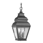 Exeter  Outdoor Hanging Lantern in Black