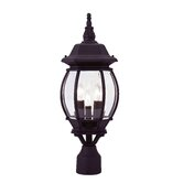 Frontenac  Outdoor Post Lantern in Black