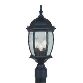 Kingston  Outdoor Post Lantern in Black