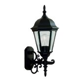 Hamilton Outdoor Up Light Wall Lantern in Black