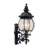 Frontenac Four Light Outdoor Wall Lantern in Black