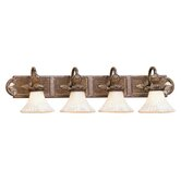 Savannah Four Light Vanity Light in Venetian Patina