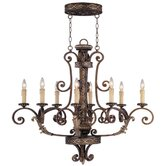 Seville 8 Light Oval Chandelier
