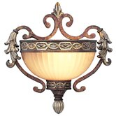 Seville  Wall Sconce in Palacial Bronze with Gilded Accents