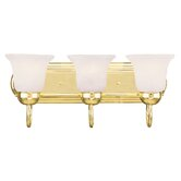 Home Basics Three Light Vanity in Polished Brass