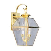 Westover Outdoor Wall Lantern in Polished Brass