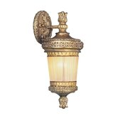 La Bella Outdoor Wall Lantern in Vintage Gold Leaf