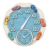 Sandals Thermometer with 12&quot; Clock