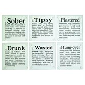 Drunk? Glass Coasters Set