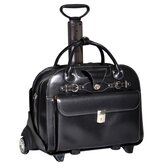 W Series Roseville 2-in-1 Removable-Wheeled Leather Ladies' Briefcase