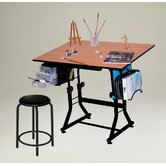 Ashley Melamine Drafting Table with Stool