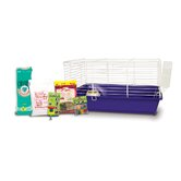 Home Sweet Home Guinea Pig Cage Starter Kit with LM Farms Food