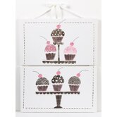 Cupcake 2 Piece Wall Art