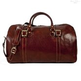"Torino 21"" Italian Leather Duffel"