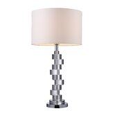 Armagh Table Lamp in Crystal And Chrome