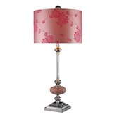Trendsitions Lauren Table Lamp in Chrome/Pink Mosaic