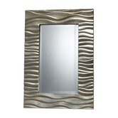 Transcend Mirror in Silver Leaf and Black Antique