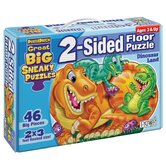 2 - Sided Sneaky Floor Puzzle - Dinosaur Land