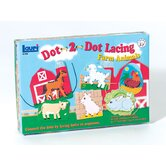 Farm Animals Dot-2-dot Lacing