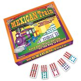 Mexican Train Double 12 Color-Coded Dominoes Game