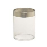 Philip Clear Waste Basket with Polished Chrome Accent