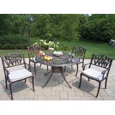 Capitol Tulip 5 Piece Dining Set with Cushions