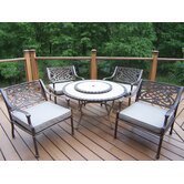 Tacoma Stone Art 5 Piece Deep Seating Group
