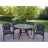 Stone Art 5 Piece Tuscany Dining Set