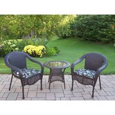 Elite Resin Wicker 3 Piece Lounge Seating Group