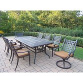 Belmont Rectangular Extendable 9 Piece Dining Set with Cushions
