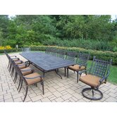 Belmont Expandable 13 Piece Dining Set with Cushions