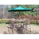 Elite 7 Piece Bar Set with Umbrella